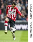 Small photo of NETHERLANDS, EINDHOVEN - April 23th 2017: PSV vs Ajax in the Dutch Eredivisie football , Santiago Arias