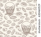hand drawn bakery products... | Shutterstock .eps vector #630460529