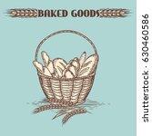 Vintage Baked Goods Basket On...