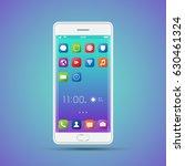 elegant smartphone with... | Shutterstock .eps vector #630461324