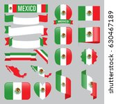 set of mexico maps  flags ... | Shutterstock .eps vector #630467189