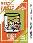 color vintage coctail party... | Shutterstock .eps vector #630467870