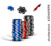 realistic casino chips isolated ... | Shutterstock .eps vector #630469898