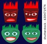 emotion faces image | Shutterstock .eps vector #630471974
