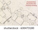 mechanical engineering drawings ... | Shutterstock .eps vector #630473180