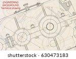 mechanical engineering drawings ... | Shutterstock .eps vector #630473183