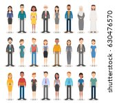 group of working people... | Shutterstock .eps vector #630476570