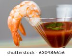 shrimp cocktail with sauce... | Shutterstock . vector #630486656