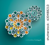 paper graphic of islamic... | Shutterstock .eps vector #630488213