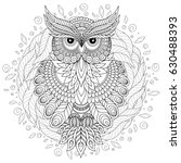 coloring book for adult and... | Shutterstock .eps vector #630488393