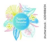 tropical palm leaves design... | Shutterstock .eps vector #630488654