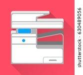 multifunction printer and... | Shutterstock .eps vector #630489056