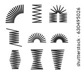 set of metal springs  spiral ... | Shutterstock .eps vector #630495026