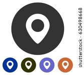 icons map placeholder for web ... | Shutterstock .eps vector #630498668