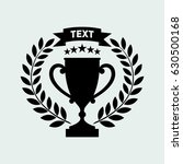 trophy cup  wreath  stars and... | Shutterstock .eps vector #630500168