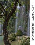 beautiful waterfall | Shutterstock . vector #630507194
