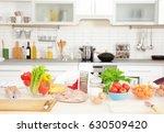 fresh ingredients for cooking... | Shutterstock . vector #630509420
