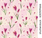 repeat pattern tulips   collage ... | Shutterstock .eps vector #630509666