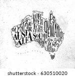 Vintage Australia Map With...