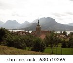 church and village next to... | Shutterstock . vector #630510269