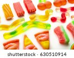 composition of colorful jelly... | Shutterstock . vector #630510914