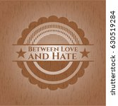 between love and hate wooden... | Shutterstock .eps vector #630519284