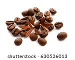 coffee grains and leaves   Shutterstock . vector #630526013