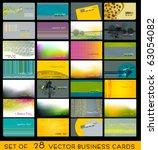 vector set of elegant fresh... | Shutterstock .eps vector #63054082