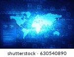 2d illustration world map... | Shutterstock . vector #630540890