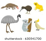 australia wild animals cartoon... | Shutterstock .eps vector #630541700