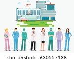 medical staff standing in front ... | Shutterstock .eps vector #630557138