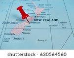 pushpin marking on christchurch ...   Shutterstock . vector #630564560