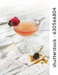 bright pink alcohol cocktail... | Shutterstock . vector #630566804