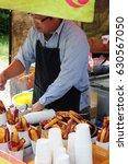 potato fries flea market at...   Shutterstock . vector #630567050