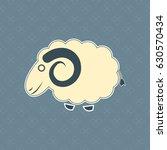 cute cartoon sheep vector | Shutterstock .eps vector #630570434