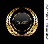 gold laurel wreath on a black...   Shutterstock .eps vector #630572540