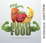 "vector green emblem ""healthy... | Shutterstock .eps vector #630575948"