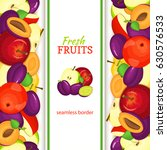 apple plum vertical seamless... | Shutterstock .eps vector #630576533