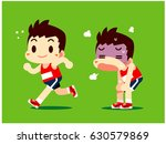 vector running male  athlete... | Shutterstock .eps vector #630579869