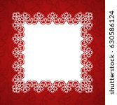 square lace frame with a place...   Shutterstock .eps vector #630586124