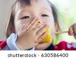 portrait of happy cute child.   Shutterstock . vector #630586400
