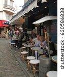 paris   sep 12  2011   diners... | Shutterstock . vector #630586838