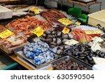 seafood fresh market  in ... | Shutterstock . vector #630590504