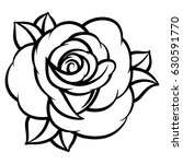 flower rose  black and white.... | Shutterstock .eps vector #630591770