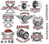 garage  service station  tires... | Shutterstock .eps vector #630598490