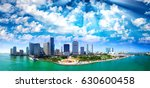 panoramic aerial view of miami...   Shutterstock . vector #630600458