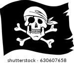 Piratic Flag. Isolated. Vector...