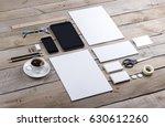 photo of branding identity mock ...   Shutterstock . vector #630612260