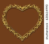 frame gold color with shadow on ...   Shutterstock .eps vector #630614990