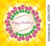happy birthday   vector...   Shutterstock .eps vector #630619034